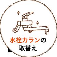 水栓カランの取替え